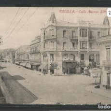 Postales: MELILLA - CALLE ALFONSO XIII - P27664. Lote 136596058