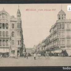Postales: MELILLA - CALLE ALFONSO XIII - P27665. Lote 136596642