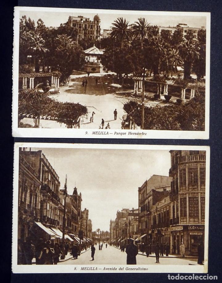 2 POSTALES DE MELILLA. ANTIGUAS POSTALES SIN CIRCULAR (Postales - España - Melilla Moderna (desde 1940))