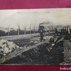 Postales: ANTIGUA POSTAL . MELILLA. FERROCARRIL DEL PUERTO EN CONSTRUCCIÓN. Lote 138889762
