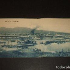 Postales: MELILLA EL PUERTO POSTAL DOBLE. Lote 139201702
