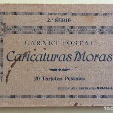 Postales: MELILLA- CARICATURAS MORAS- SEGUNDAS SERIE- ALBUM 20 POSTALES- EDC. BOIX HERMANOS. Lote 139550806