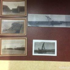 Postales: FOTO POSTALES MELILLA AÑOS 20 REPARACION PUERTO POR TEMPORAL 1914. Lote 145148646