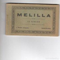 Postales: MELILLA. BLOC CON 15 POSTALES. ROISIN. COMPLETO. Lote 145727318