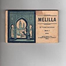 Postales: MELILLA. BLOC CON 20 POSTALES. ALBERT. COMPLETO. Lote 145727714