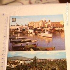 Postales: 2 ANTIGUA POSTAL - PARQUE HERNÁNDEZ, MELILLA - FARDI, 134 CLUB MARITIMO ESCUDO DE ORO Nº6. Lote 146570110