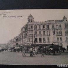 Postales: MELILLA ENTRADA GENERAL CHACEL. Lote 147587894