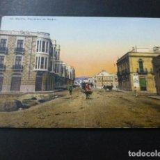 Postales: MELILLA CARRETERA DE NADOR. Lote 147779434