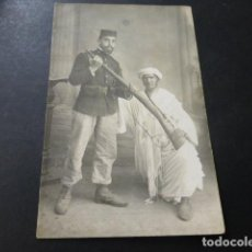 Postales: MELILLA 1909 POSTAL FOTOGRAFICA MILITAR CON MORO . Lote 147779610