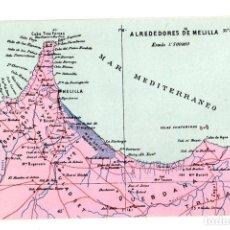 Cartoline: TARJETA POSTAL ALREDEDORES DE MELILLA. Nº 60. ATLAS GEOGRAFICO DE ESPAÑA Y PORTUGAL. Lote 148012433