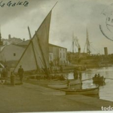 Postales: MELILLA. PUERTO. LA GALETA. CALETA.GOLETA. CIRCULADA EN 1915. FOTOGRÁFICA. MUY RARA.. Lote 148078246