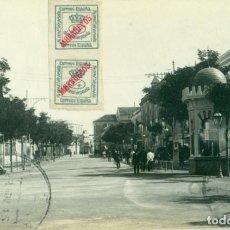 Postales: MELILLA. AVENIDA. CALLE. HOTEL SIMÓN. CIRCULADA EN 1915. FOTOGRÁFICA.. Lote 148084502