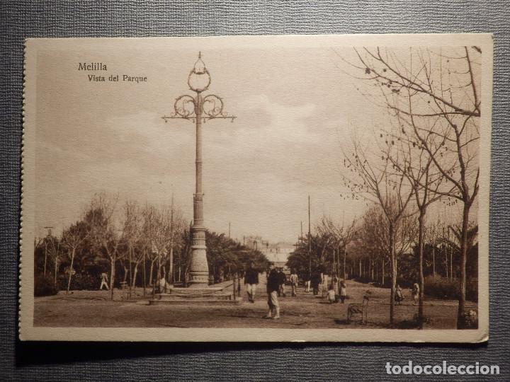 POSTAL - MELILLA - VISTA DEL PARQUE - ESPAÑA NUEVA, MARGALLO 5 - T 7688 - NUEVA (Postales - España - Melilla Antigua (hasta 1939))