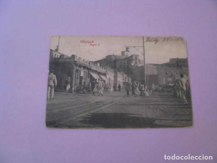 MELILLA. MURO X. FOTOTIPIA CASTAÑEIRA Y ALVAREZ. ESCRITA 1912. (Postales - España - Melilla Antigua (hasta 1939))