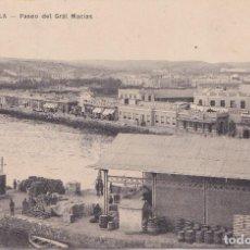 Postales: MELILLA - PASEO DEL GENERAL MACIAS. Lote 153568098