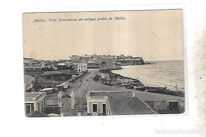 TARJETA POSTAL DE MELILLA - VISTA PANORAMICA DEL ANTIGUO PUEBLO DE MELILLA. LOMBARDIU Y BARREIRO (Postales - España - Melilla Antigua (hasta 1939))
