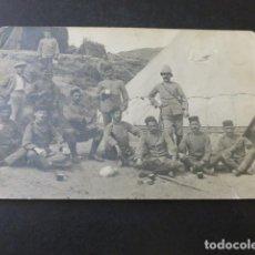 Postales: CEUTA GUERRA DE AFRICA POSTAL FOTOGRAFICA SOLDADOS CAMPAÑA DECADA DE 1910. Lote 154415274