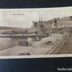 Postales: MELILLA VISTA DEL MUELLE. Lote 155505162