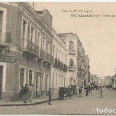 Postales: POSTAL MELILLA CALLE DEL POETA ARTURO REYES ED. POSTAL EXPRES FOTOTIPIA HAUSER MENET. Lote 156172598