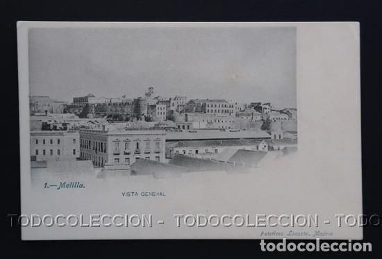 POSTAL MELILLA VISTA GENERAL . LACOSTE CA AÑO 1900 (Postales - España - Melilla Antigua (hasta 1939))