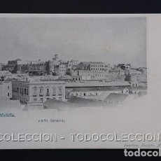 Postales: POSTAL MELILLA VISTA GENERAL . LACOSTE CA AÑO 1900. Lote 156632422