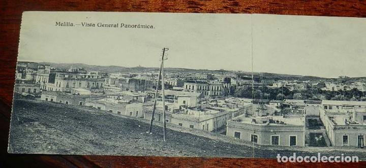 Postales: POSTAL TRIPLE DE MELILLA, VISTA GENERAL PANORAMICA, EXCLUSIVA CABRERA, NO CIRCULADA. - Foto 2 - 157662642