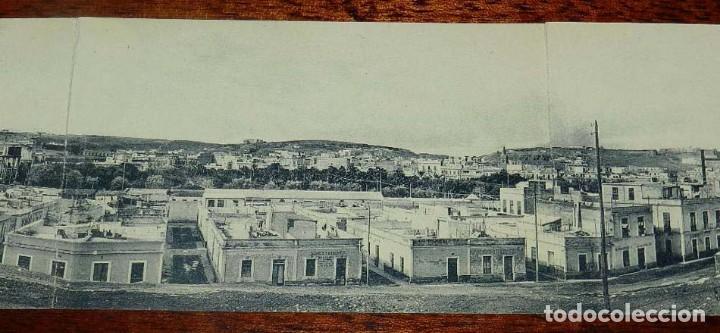 Postales: POSTAL TRIPLE DE MELILLA, VISTA GENERAL PANORAMICA, EXCLUSIVA CABRERA, NO CIRCULADA. - Foto 3 - 157662642