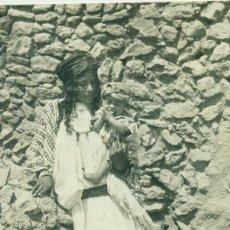 Cartoline: MELILLA. TIPOS RIFEÑOS RÍO KERT. HACIA 1910. FOTO LÁZARO.. Lote 159842298