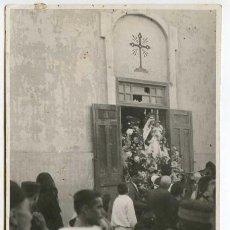 Postales: MELILLA. BARRIO DEL REAL. PROCESIÓN DEL CARMEN 16 DE JULIO DE 1925, POSTAL FOTOGRÁFICA. Lote 159852854