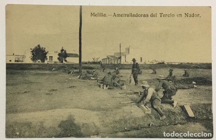 MELILLA. AMETRALLADORAS DEL TERCIO DE NADOR. (ED. EXCLUSIVA CABRERA) (Postales - España - Melilla Antigua (hasta 1939))
