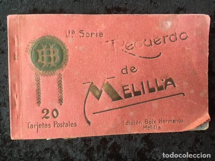 20 TARJETAS POSTALES - RECUERDO DE MELILLA - IIª SERIE - BOIX HERMANOS (Postales - España - Melilla Antigua (hasta 1939))