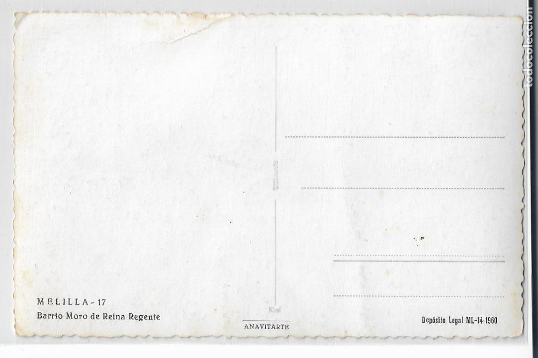 Postales: MELILLA - BARRIO MORO DE REINA REGENTE - P28847 - Foto 2 - 161028902