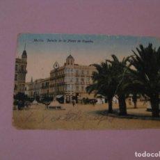 Postales: POSTAL DE MELILLA. DETALLE DE LA PLAZA DE ESPAÑA. ED. BOIX HERMANOS. ESCRITA.. Lote 162637194