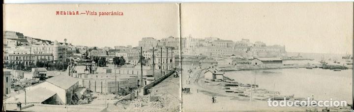MELILLA-VISTA PANORÁMICA-TRÍPTICO-CASTAÑEIRA (Postales - España - Melilla Antigua (hasta 1939))