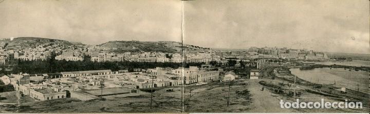 Postales: MELILLA-VISTA PANORÁMICA DESDE EL FUERTE SAN LORENZO-CUADRUPLE-HAUSER - Foto 2 - 166127030