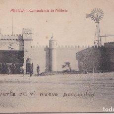 Postales: MELILLA - COMANDANCIA DE ARTILLERIA. Lote 175162247