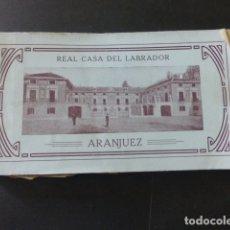 Postales: ARANJUEZ MADRID REAL CASA DEL LABRADOR CUADERNO 15 POSTALES COMPLETO. Lote 175969558