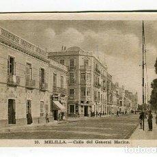 Postales: MELILLA CALLE DEL GENERAL MARINA N 10 L. ROISIN SIN ESCRIBIR VER IMAGENES DOS CARAS. Lote 176741012