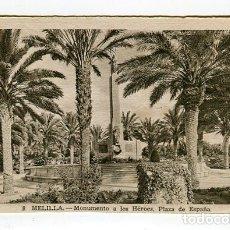 Postales: MELILLA MONUMENTO A LOS HEROES PLAZA ESPAÑA N 8 L. ROISIN SIN ESCRIBIR VER IMAGENES DOS CARAS. Lote 176741267
