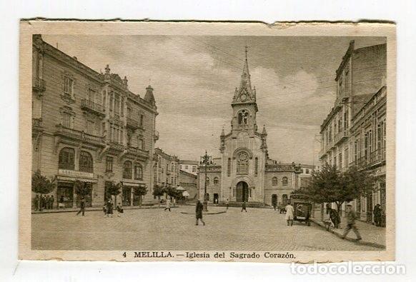 MELILLA IGLESIA DEL SAGRADO CORAZON N 4 L. ROISIN ESCRITA EN 1949 VER IMAGENES DOS CARAS (Postales - España - Melilla Moderna (desde 1940))
