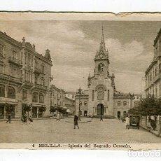 Postales: MELILLA IGLESIA DEL SAGRADO CORAZON N 4 L. ROISIN ESCRITA EN 1949 VER IMAGENES DOS CARAS. Lote 176741879