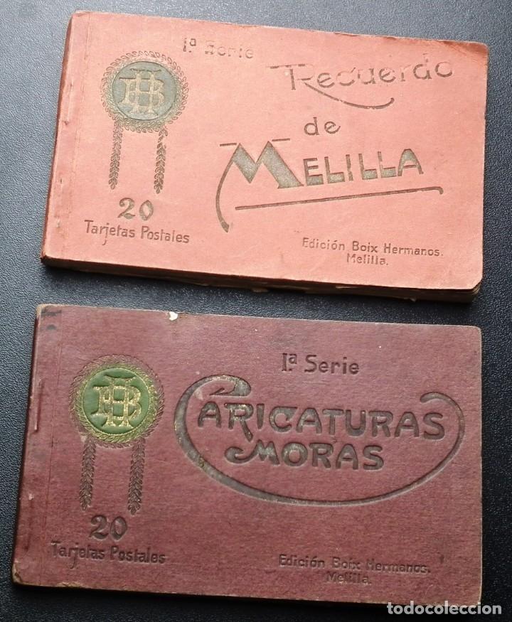 POSTALES DE MELILLA - CARICATURAS MORAS (1ª SERIE) + RECUERDO DE MELILLA (1ª SERIE). HERMANOS BOIX (Postales - España - Melilla Antigua (hasta 1939))