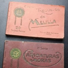 Postales: POSTALES DE MELILLA - CARICATURAS MORAS (1ª SERIE) + RECUERDO DE MELILLA (1ª SERIE). HERMANOS BOIX. Lote 176849699