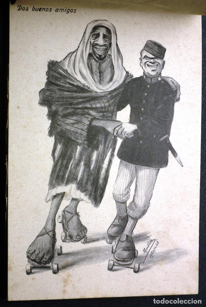Postales: POSTALES DE MELILLA - CARICATURAS MORAS (1ª SERIE) + RECUERDO DE MELILLA (1ª SERIE). HERMANOS BOIX - Foto 10 - 176849699