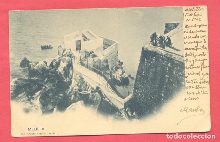MELILLA. 1071 HAUSER Y MENET, CIRCULADA 1902 SIN SELLO , VER FOTOS (Postales - España - Melilla Antigua (hasta 1939))