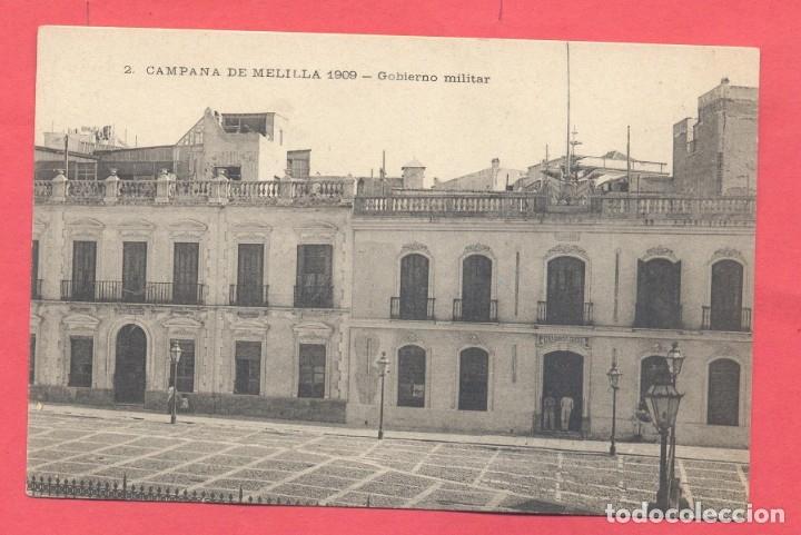 MELILLA . 2 CAMPAÑA DE MELILLA 1909 - GOBIERNO MILITAR , CIRCULADA 1909 VER FOTOS (Postales - España - Melilla Antigua (hasta 1939))