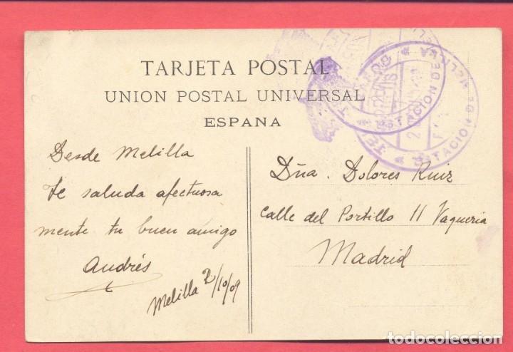 Postales: melilla . 2 campaña de melilla 1909 - gobierno militar , circulada 1909 ver fotos - Foto 2 - 177203805