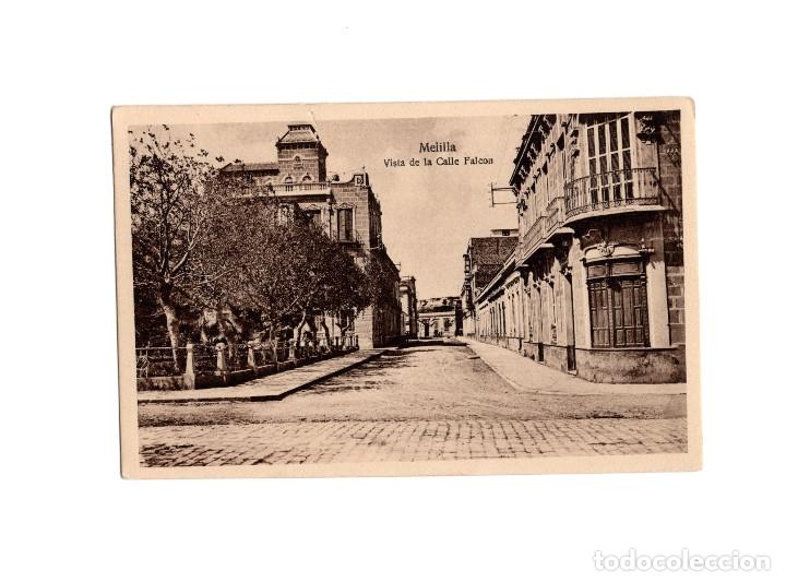 MELILLA.- VISTA DE LA CALLE FALCON. (Postales - España - Melilla Antigua (hasta 1939))