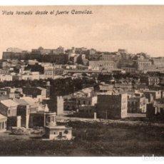 Postales: POSTAL DE MELILLA - VISTA TOMADA DESDE EL FUERTE CAMELLOS. Lote 178601110