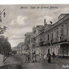 Postales: POSTAL DE MELILLA - CALLE DEL GENERAL MARINA. Lote 178601157